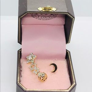 NEW Juicy Couture Gold Star & Moon Earring
